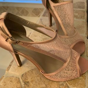 Gently used Dress Barn Blush heels